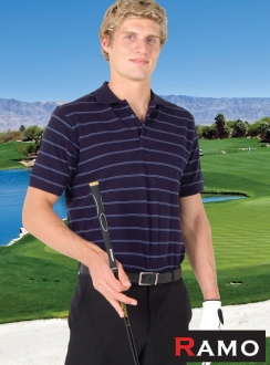 Golf Stripe Jacquard Polo