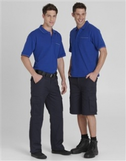 Mens Flat Front Cargo Pants