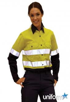 AIW Ladies HiVis Cool-Breeze Twill Safety Shirts