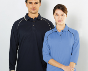 1140 Cool Dry Polo 3/4 Sleeve Ladies