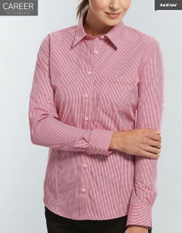 1637WHL Gingham Check Ladies LS