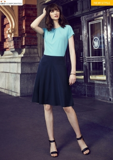 20718 Womens Bandless Flared Skirt