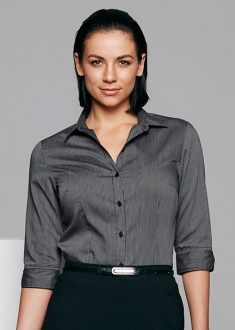 2900T Ladies Henley Shirt 3/4 Sleeve