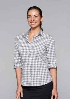 2908T Ladies Devenport Shirt 3/4 Sleeve