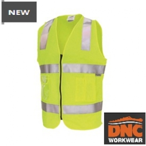 3507L Day/Night Side Panel Safety Vest with tape