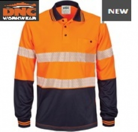 3513 HiVis Taped Micromesh Polo LS