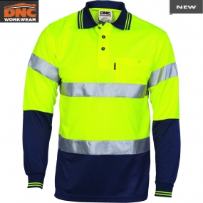 3716 HiVis D/N Cool Breathe Polo tape LS