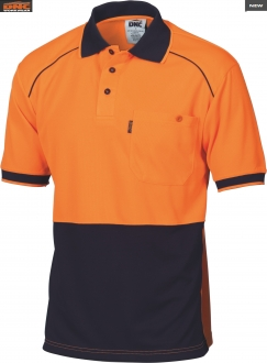 3754 HiVis Cool Breathe Piping Polo SS