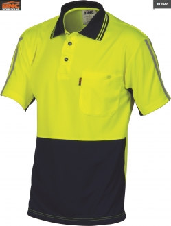 3755 HiVis Cool Breathe Stripe Polo SS