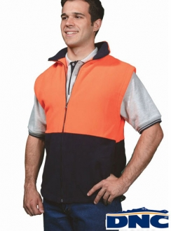 3828 DNC HiVis Full Zip Polar Fleece Vest