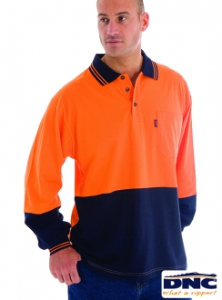 3846 HiVis Cool-Breeze L/S Polo