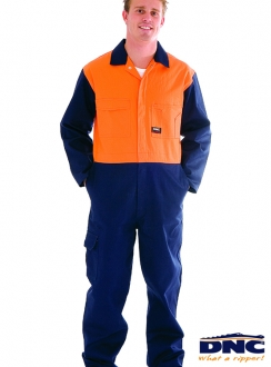 DNC HiVis Cotton Drill Coverall