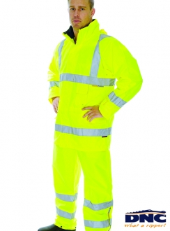 DNC HiVis Breathable 3M Tape Rain Jacket