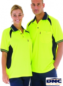 3901 DNC HiVis Cool-Breeze Contrast Panel Polo