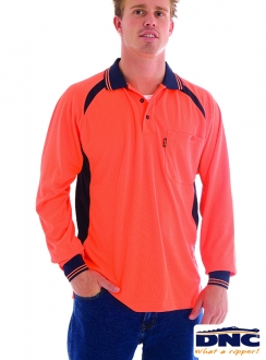 DNC HiVis Cool-Breeze Panel L/S Polo