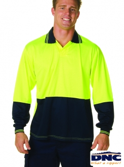3904 DNC HiVis Food Industry L/S Polo