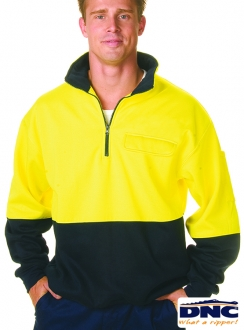 3923 HiVis Half Zip Panel Fleecy Wincheater