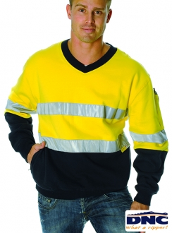 DNC HiVis Fleecy R/Tape Sweater