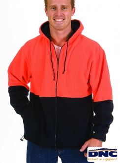 DNC HiVi Full Zip Polar Fleece Hoodie