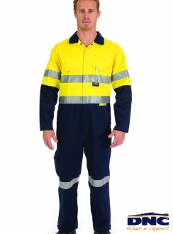 DNC HiVis Cool-Breeze Cotton Coverall  3M R/Tape