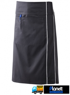 3QTR LENGTH APRON WITH POCKET FOLD OVER AND PIPING