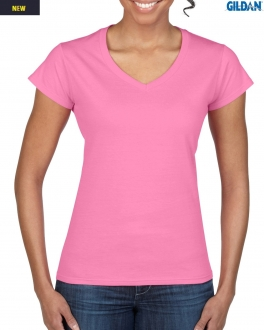 64V00L Softsyle Adult V-Neck Tee