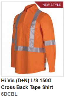 6DCBL Hi Vis (D+N) LS Back Tape Shirt