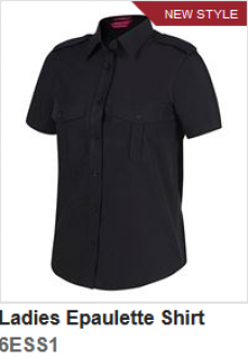 6ESS1 LADIES S/S EPAULETTE SHIRT