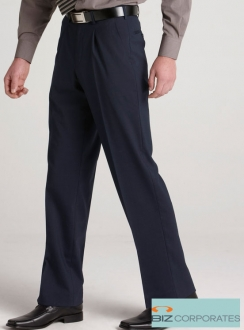Comfort Wool Mens Single Pleat Pant