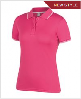 7JCP1 Ladies Jaquard Contrast Polo