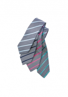 99102 Mens Single Contrast Stripe Tie