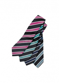 99103 Mens Wide Contrast Stripe Tie
