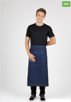 AP702L Denim Full Length Apron Unisex