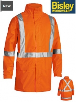 BJ6968T Hi Vis Rain Soft Shell jacket with X Back