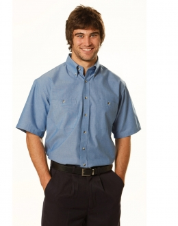BS03S Wrinkle free S/S Chambray Shirt Mens