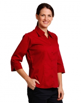 BS07Q Ladies Teflon Executive Shirt 3/4 Sleeve
