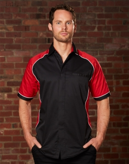 BS15 Mens Tri-Color Contrast Shirt