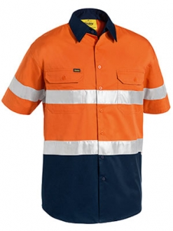 BS1896 3M Taped Two Tone HI-Vis Cool Lightweight Shirt