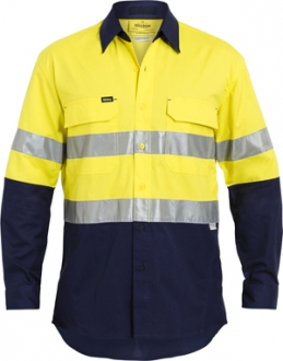 BS6415T Two Toned HI Vis X Airflow Ripstop Shirt LS With 3M Tape