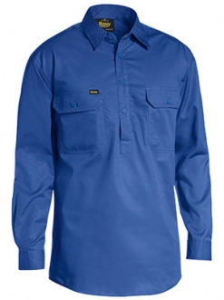 BSC6820 Closed Front Cool Lightweight Drill Shirt