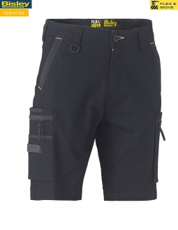BSHC1330 Flex & Move Stretch Utility Zip cargo Shorts