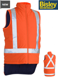 BV0379XT Hi Vis Puffer Jacket With Taped X Back