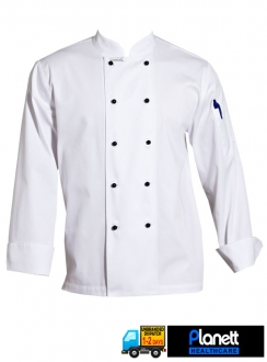 CLASSIC CHEF JACKET L/S WITH FOLD BACK CUFF & PEN POCKET