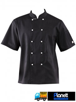 CLASSIC SHORT SLEEVE CHEFS JACKET WITH PEN POCKET
