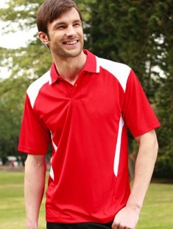 CP1215 Honey Comb Contrast Polo