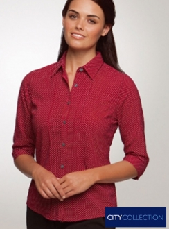 City Stretch Spot 3qtr Shirt