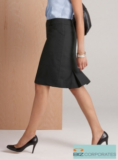 Comfort Wool Multi Pleat Skirt