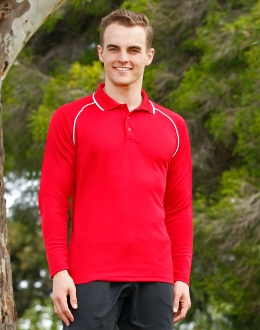 CoolDry Raglan L/S Contrast Polo