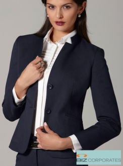 Cool Stretch Short Jacket with Reverse Lapel