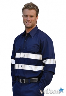 WT04HV AIW Cotton Drill L/S Work Shirt